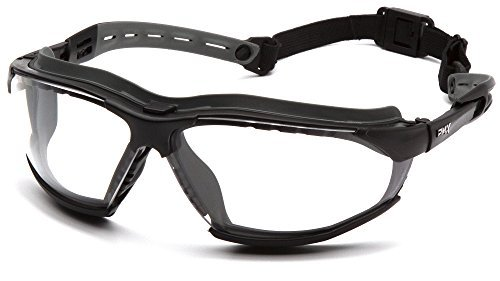Pyramex Isotope Safety Goggles Clear H2MAX Anti-Fog Lens with Black Frame by Pyramex Safety