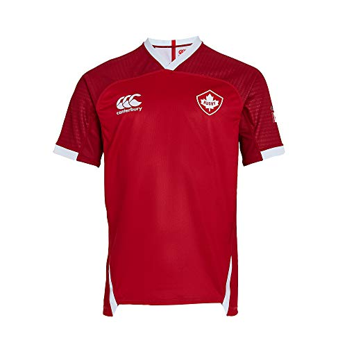 Canterbury Official 19/20 Canada Rugby Men's Vapodri+ Short Sleeved Home Pro Jersey