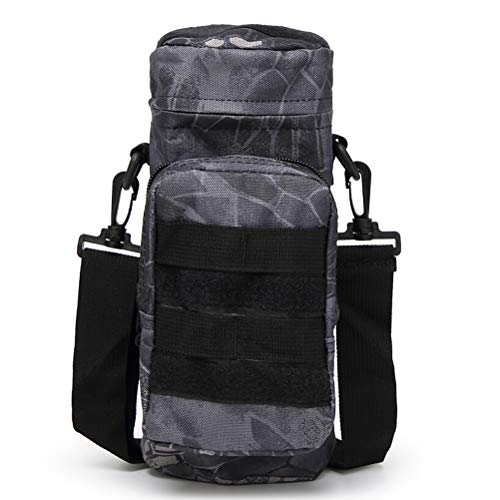 LOVOUS Military MOLLE Tactical Travel Water Bottle Kettle Pouch Carry Bag Case for Outdoor Activities (Typhon)