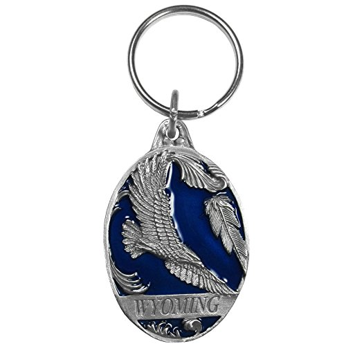 Siskiyou Automotive RK309E Metal Key Chain (Wyoming Eagle Enameled Details)