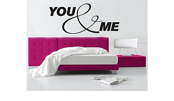 Adhesivo de You and Me No, 2, rosa, 100 x 43 cm: Amazon.es: Hogar