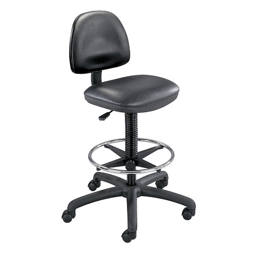Precision Vinyl Extended-Height Chair with Footring - Safco Precision Drafting Table