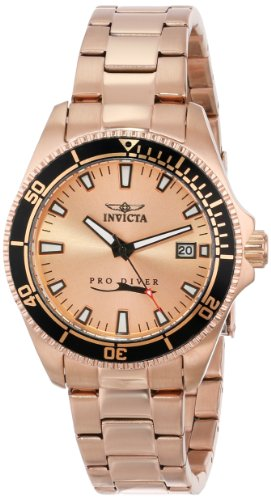 Amazon.com: Invicta Womens 15137SYB Pro Diver Rose Gold Dial 18k Ion-Plated Stainless Steel Watch with Impact Case: Watches