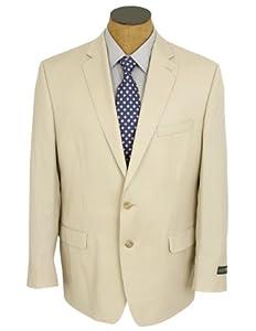 B00JEMMOF4 Ralph Lauren Mens Solid Light Beige Tan Wool Suit- Size 48R