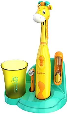 Brusheez Kinder elektrische zahnbürste set (safari ausgabe) - - inklusive akku-zahnbürste, 2 bürstenköpfe jovie die giraffe