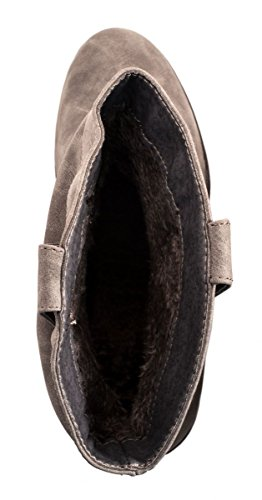 Elara - Botas plisadas Mujer gris
