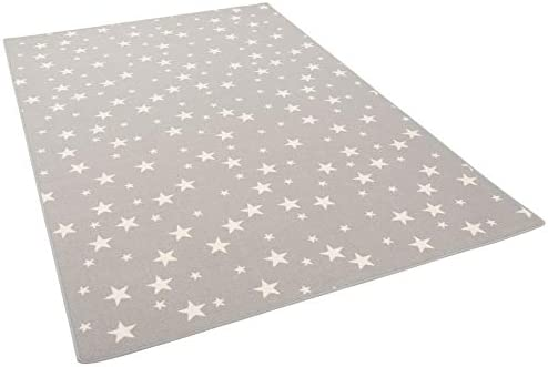 Stars Children Play Rug 17 Sizes Grey