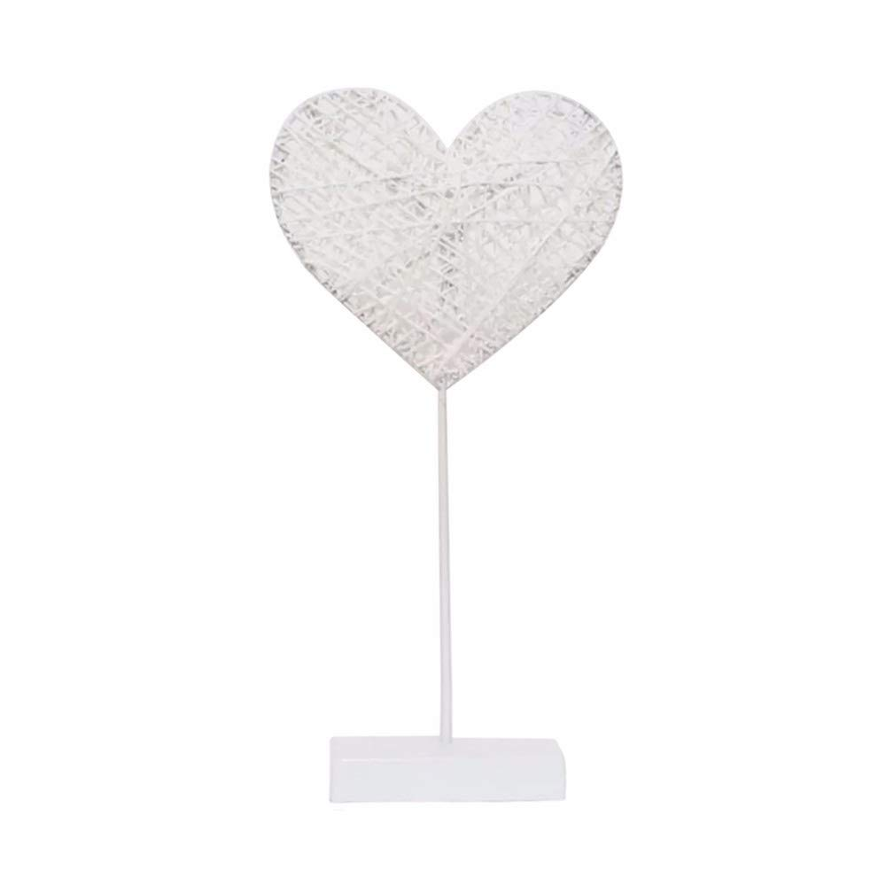 Becoler Led Nightlight Decor Lamp, Heart Shape Stars Desk Lamp Rattan Lamp Party Wedding Decoration by Becoler