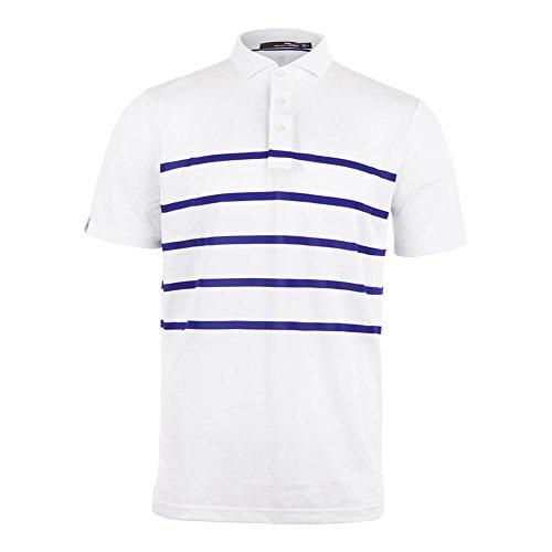 (Polo Ralph Lauren-Men`s Lightweight Tech Pique Tennis Top Pure White and City Ro)
