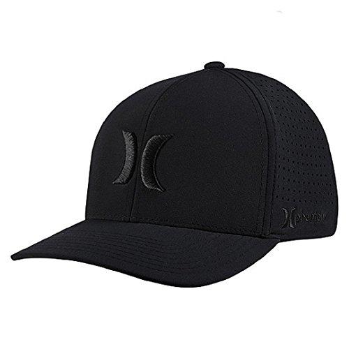 Hurley MHA0007160 Mens Phantom Vapor 2.0 Fitted Hat, Black - S-M
