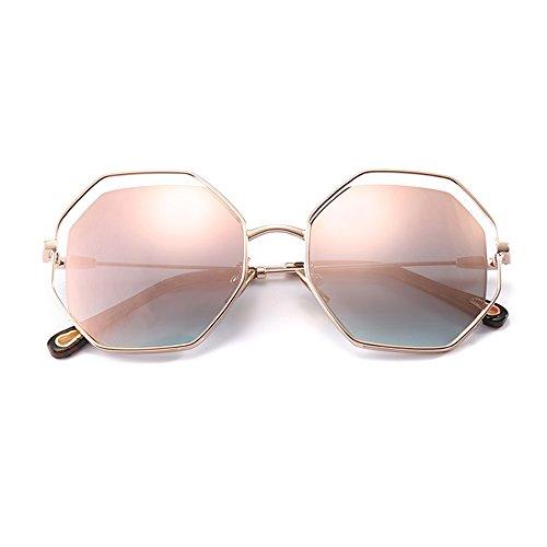 Gafas ZHIRONG grande la moda polarizadas contra protección B al marco conducción solar de viajes gafas sol de C de libre UV aire Gafas de personalidades Color drxdYq