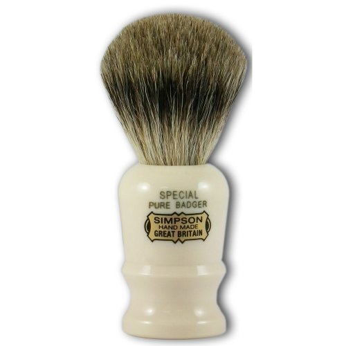 Simpsons Special Pure Badger Hair Shaving Brush With Imitation Ivory Handle (Special Hair Brush compare prices)