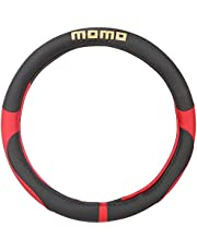Momo Car Steering Wheel Cover - Black and Red