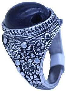 Silver Black Onyx Ring Mens Wedding Jewelry Men Rings 10 US