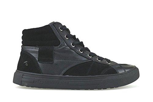 1a489f91877 Gamuza Negro Lumberjack Sneakers Aj169 Cuero Zapatos Hombre fn077xa