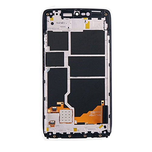 KNONEW For Motorola Droid Turbo XT1254 LCD Display Touch Screen Digitizer Assembly Replacement +Frame Tools(Black) by KNONEW (Image #2)