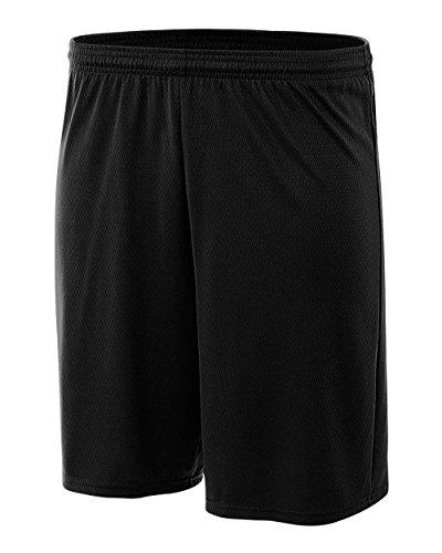 Pro Line Performance Mesh Youth Shorts (Black, Medium)