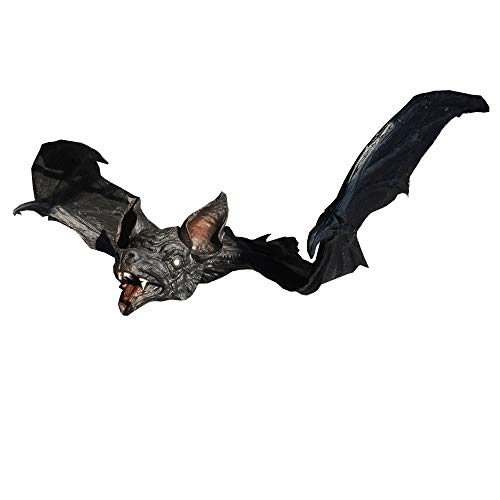 ShopTrend Giant Hanging Bat Props Grave Yards Scary Hunted House Halloween Decorations - Black - (90cm Wide x 46cm -