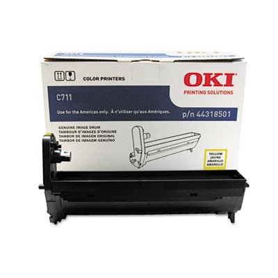 Oki Laser Printer Cartridges - Oki Data 44318501 Image Drum for C711 Series Printers, 20000 Page Yield, Yellow