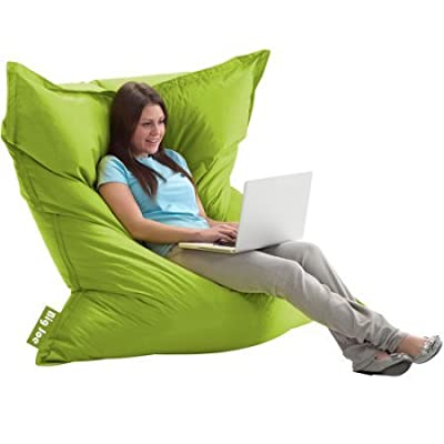 The Original Big Joe Bean Bag | Slips Easily Under a Bed or Behind a Sofa for Storage (Spicy Lime)