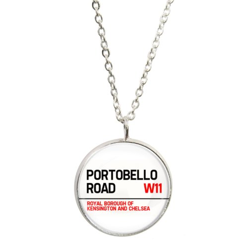 Portobello Road Design Pendant and Silver Plated Necklace Set