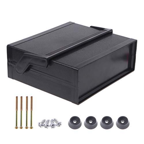 keaiduoa 200x175x70mm Waterproof Plastic Electronic Enclosure Project Box Black ()