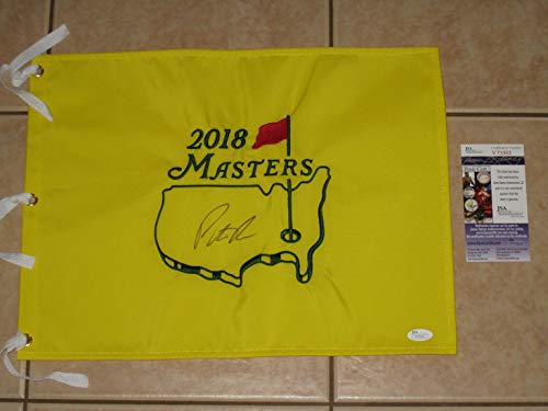 - Patrick Reed signed 2018 Authentic Masters Tournament Pin Flag - Winner -JSA COA