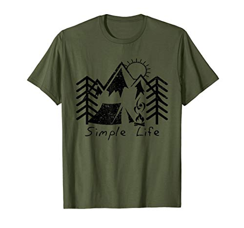 53d0acc961 Mens Simple Life T-Shirt - Hiking & Camping Tee for Outdoor Lover