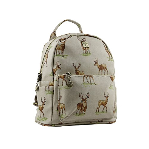 House Of Tweed Bolso mochila para mujer Stag Beige