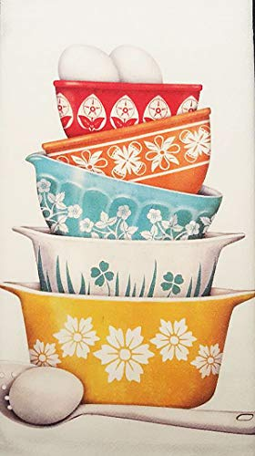 (Mary Lake Thompson Vintage Baking Dish Bakeware 100% Cotton Flour Sack Dish Tea Towel 30