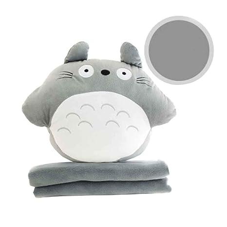 Totoro - Peluche Redondo con Manta de Invierno, cálido ...