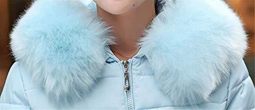 Espesar Cremallera Transición Colores Invierno Piel Grandes Capucha Blau1 Áspera con Acolchado Sólidos Pluma Termica Abrigo Abrigos con De Mujer Fit Tallas Slim Estilo Especial O1qnwav