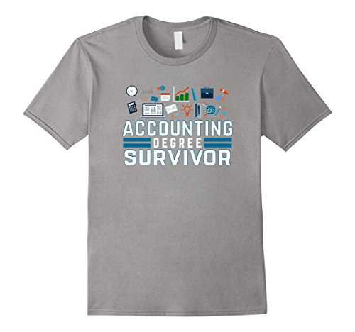 Mens Accounting Graduation T Shirt gift idea for celebration Large Slate