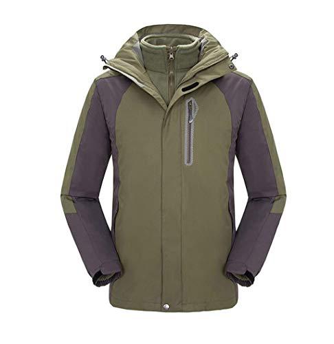 3-in-1 Jacket Outdoor Mount Windproof Waterproof Removable Liner Two-piece Suit Green
