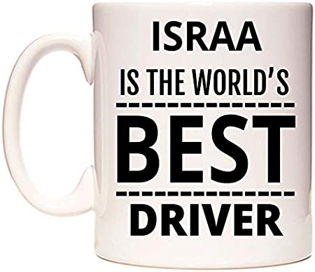 ISRAA Is The World's BEST Driver Taza por WeDoMugs®