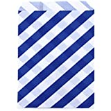 Dress My Cupcake 24-Pack Party Favor Bags, Striped, Cobalt Blue
