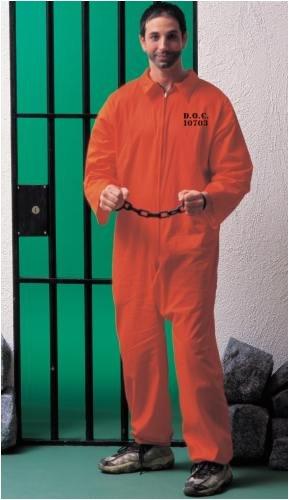 Quick Mens Costumes (Forum Novelties Men's Adult Jailbird Costume, Orange, Standard)