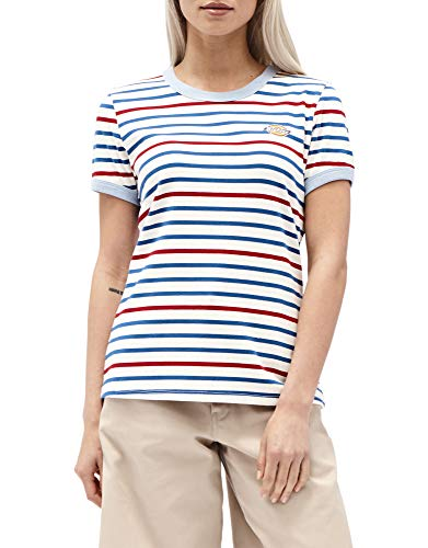 Girl Junior Ringer T-shirts - Dickies Girl Juniors' Striped Short Sleeve Ringer T-Shirt