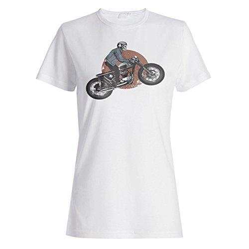 Neues Skelett-Motorrad Fahren Damen T-shirt m556f