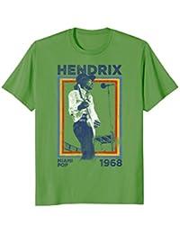 Jimi Hendrix Miami Pop 1968 Rainbow Rectangle Strokes