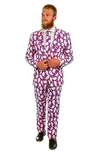 [Shinesty The Spermy Ghosts Halloween Suit (Jacket, Pants & Tie Included)] (Funny Weird Halloween Costumes)