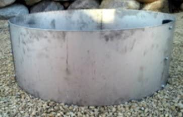 Stainless Steel Fire Pit Ring Liner Metal Insert 45 Diameter 14 Deep