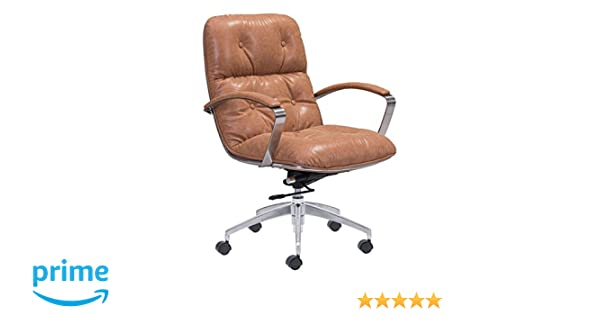 amazon com zuo modern avenue office chair vintage coffee kitchen