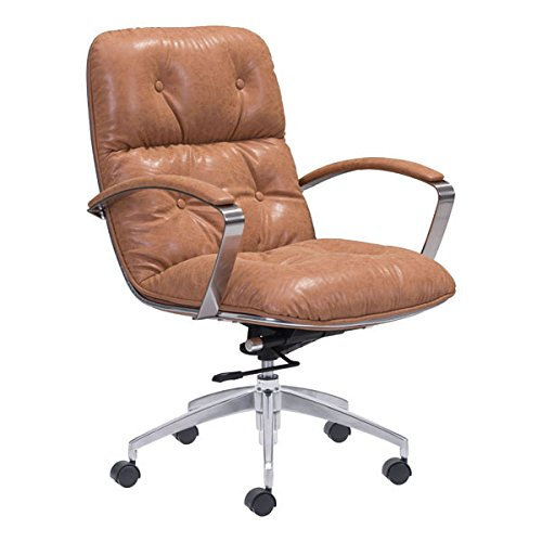 Zuo Modern Avenue Office Chair, Vintage Coffee