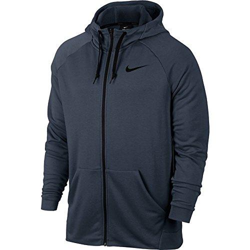 Nike Mens Fleece (NIKE Men's Performance Dry Fleece Training Zip Hoodie (S, Thunder Blue/Black))