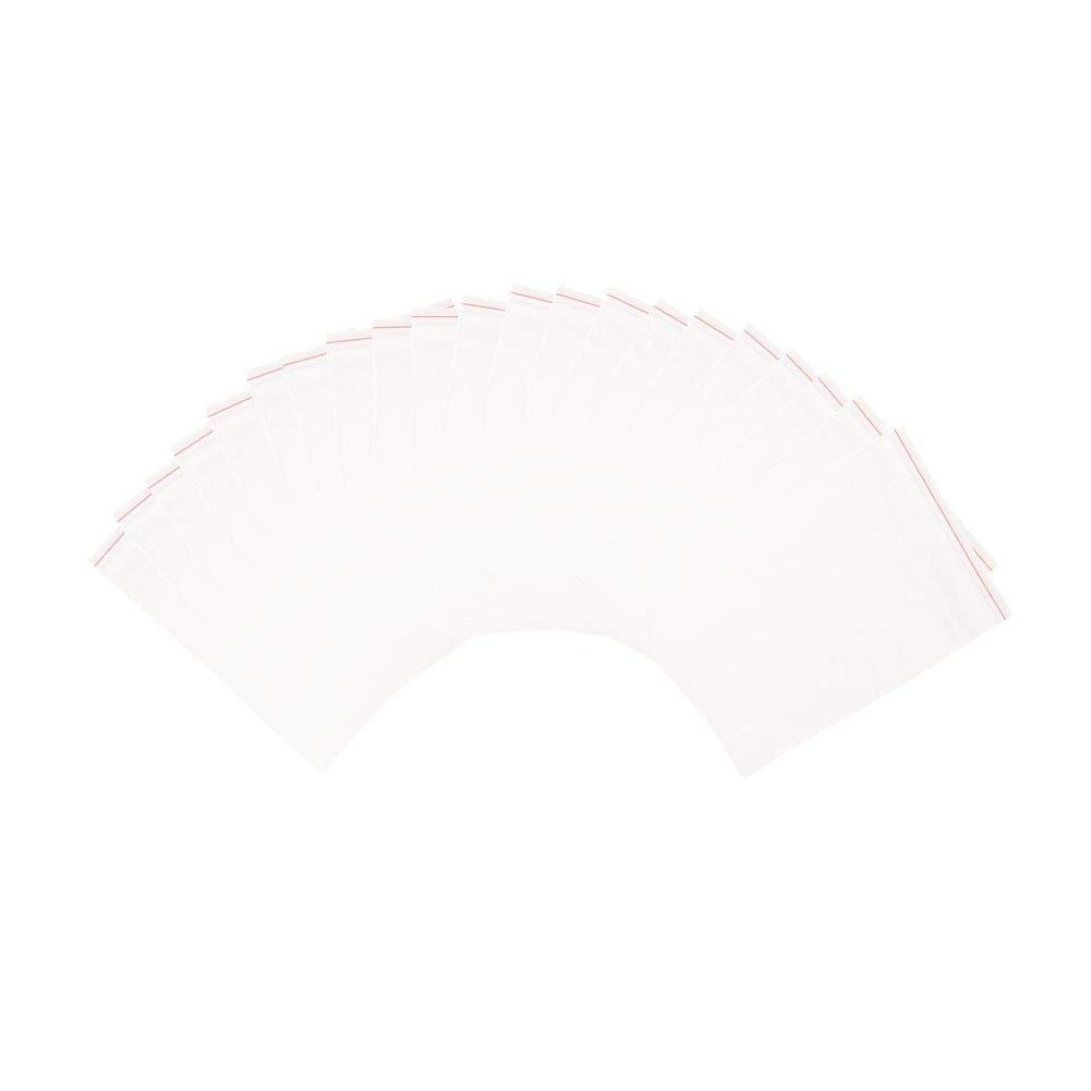 0,04 mm 12x8cm PandaHall Elite 500pcs Sacchetti Trasparenti OPP bustine in plastica con Chiusura a Zip Piccoli Sacchetti Trasparenti Riutilizzabile per Bomboniera Regalo Biscotti Gioielli Spessore