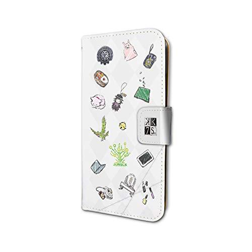 K SEVEN STORIES 01 白銀のクラン&緑のクラン(jungle) (グラフアートデザイン) 手帳型スマホケース iPhone6/6S/7/8兼用の商品画像