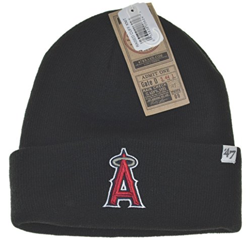 Angels Beanie - MLB Anaheim Angels Cuffed Knit Hat Beanie-black