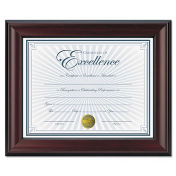 Amazon.com - DAX Document Frame, 8-1/2 x 11 Inches, Rosewood/Black ...