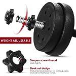 BESPORTBLE-Set-di-Manubri-Regolabili-con-Barra-Bilanciere-Extra-Antiscivolo-Manubri-Fitness-Set-30-kg